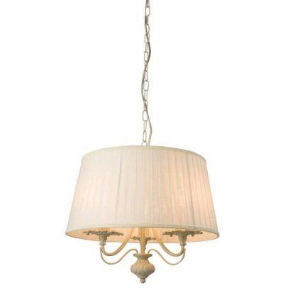 chester kremowa lampa wisząca z abażurem