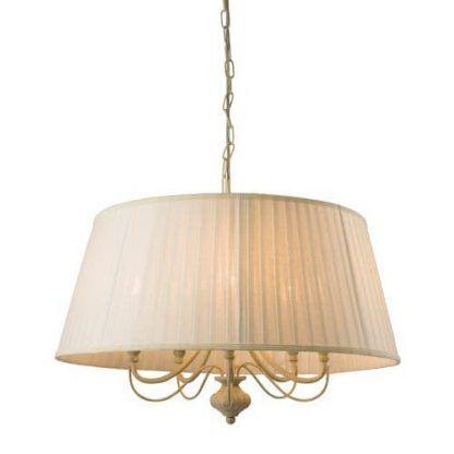 chester lampa wisząca z plisowanym abażurem
