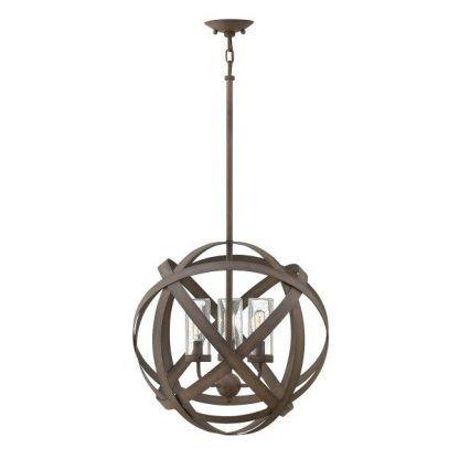 ciekawa ozdobna lampa wisząca z pasków w kształcie dużej kuli