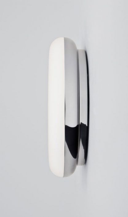 ciekawy kinkiet łazienkowy biało srebrny