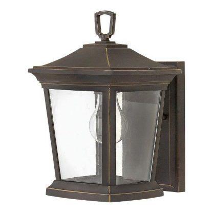 Ciemnobrązowa lampa ścienna zewnętrzna
