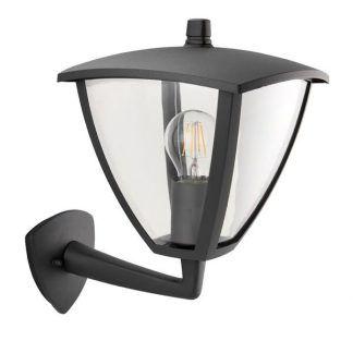 Ciemny kinkiet z kloszem w kształcie latarni