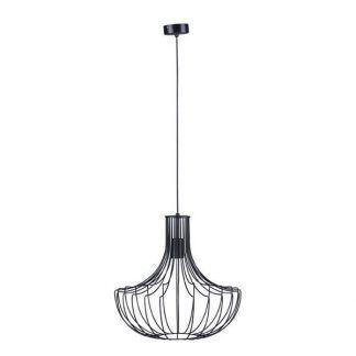 wisząca czarna lampa druciana do salonu lub kuchni