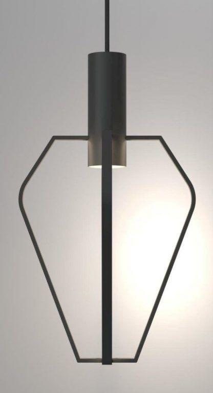 czarna druciana lampa wisząca nowoczesna forma