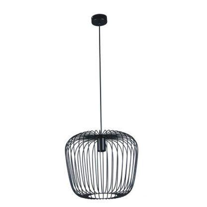 czarna druciana lampa wisząca skandynawska