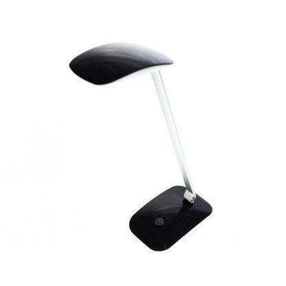 Czarna lampa biurkowa w stylu nowoczesnym
