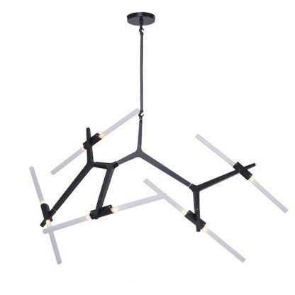 Czarna lampa do sypialni regulowane ramiona