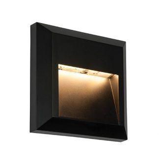 czarna lampa na zewnątrz domu do elewacji na tarasie