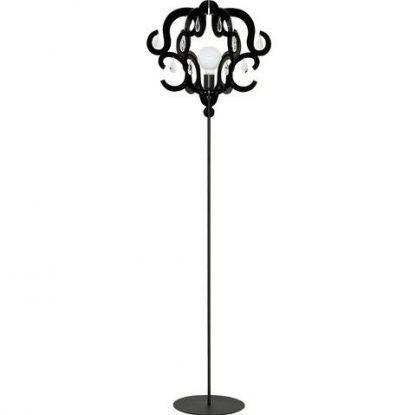 czarna lampa podłogowa do salonu glamour