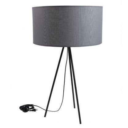 czarna lampa podłogowa z abażurem skandynawska