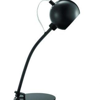 czarna lampa stołowa kula - biurko lub szafka nocna