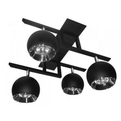 czarna lampa sufitowa do przedpokoju na 4 żarówki
