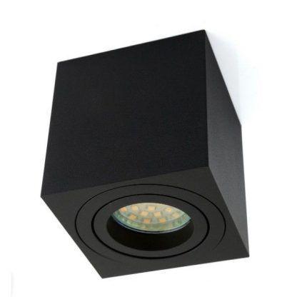 czarna lampa sufitowa downlight - led do sypialni