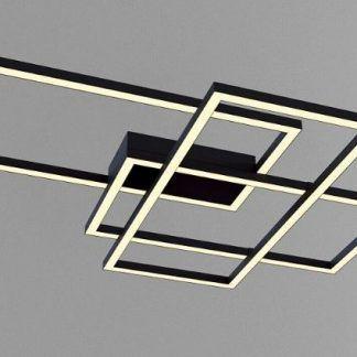 czarna lampa sufitowa figury geometryczne nowoczesna