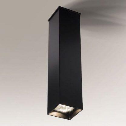 czarna lampa sufitowa kwadratowa tuba