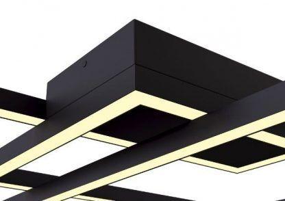 czarna lampa sufitowa nowoczesna do salonu