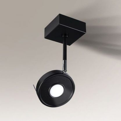 czarna lampa sufitowa reflektor nowoczesny