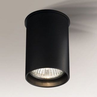 czarna lampa sufitowa tuba nowoczesny design