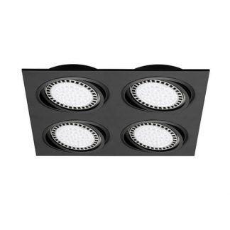Czarna lampa sufitowa z oczkami