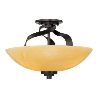 czarna lampa sufitowa z żółtym kloszem szklanym