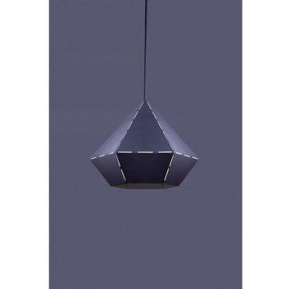 czarna lampa wisząca diament nowoczesna