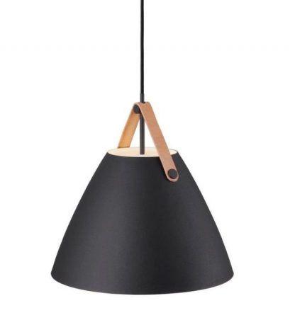 czarna lampa wisząca do kuchni skandynawskiej