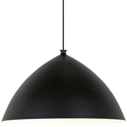 czarna lampa wisząca do salonu skandynawski design