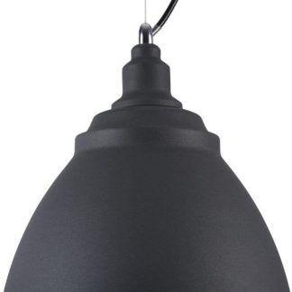czarna lampa wisząca do skandynawskiej jadalni