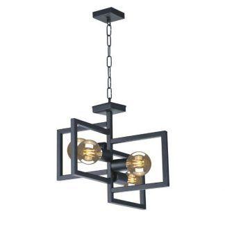czarna lampa wisząca industrialna do przedpokoju