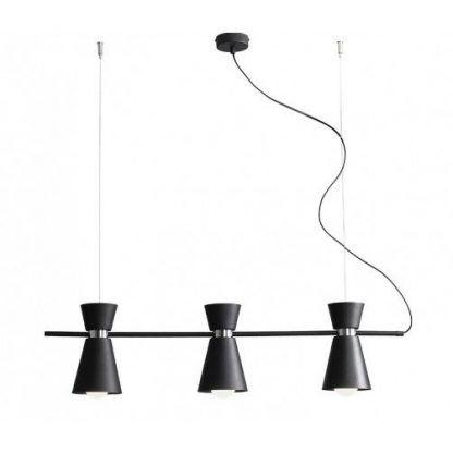 czarna lampa wisząca nad stół nowoczesna