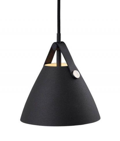 czarna lampa wisząca nowoczesna minimalistyczna