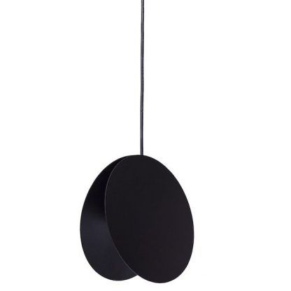 czarna lampa wisząca okrągły klosz nowoczesna