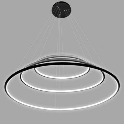 czarna lampa wisząca ringi led oświetlenie restauracji