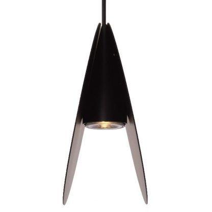 czarna lampa wisząca ukryta żarówka nowoczesna