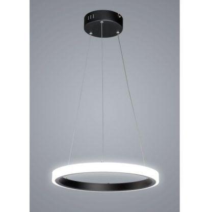 czarna lampa wisząca z jednym ringiem