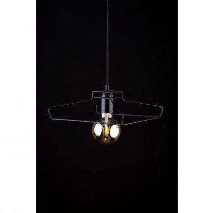 czarna lampa wisząca z prętów nowoczesna