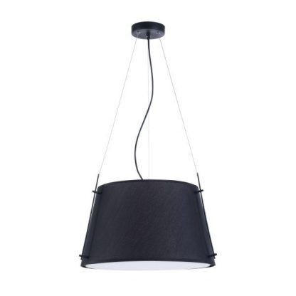 czarna lampa wisząca z zamkniętym kloszem