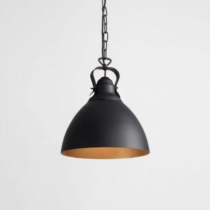 czarna metalowa lampa wisząca do kuchni