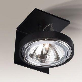 czarna nowoczesna lampa sufitowa do przedpokoju