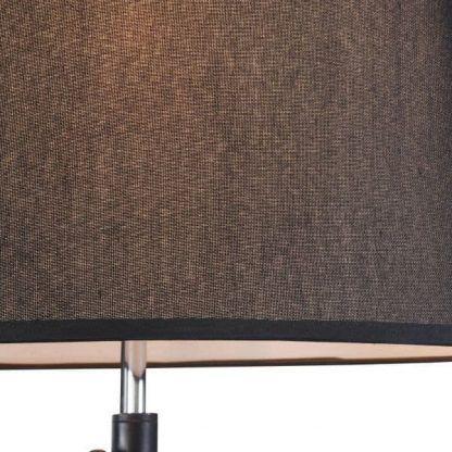 czarna prosta lampa podłogowa