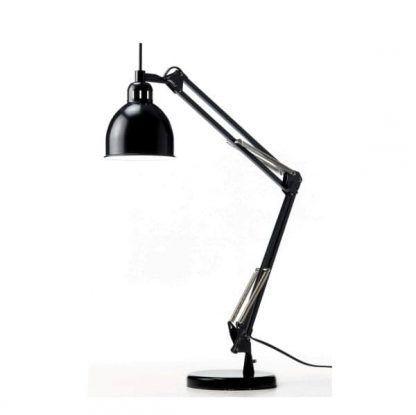 czarna składana lampa stołowa z regulacją nowoczesna