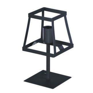 czarna stalowa lampa stołowa - spawana ręcznie