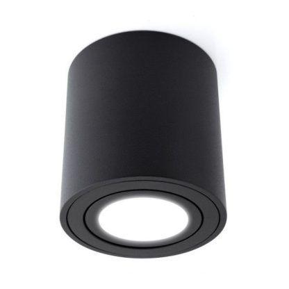 czarna tuba na sufit - lampa oczko led