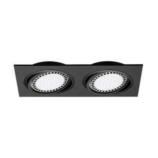 Czarne podwójne regulowane oczko sufitowe