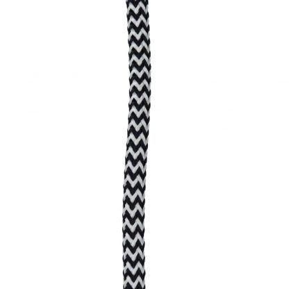 czarno biały oplot do kabla lampy