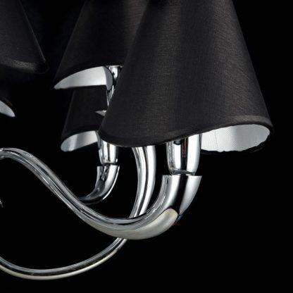 Czarny charakterystyczny abażur lampy Boscage
