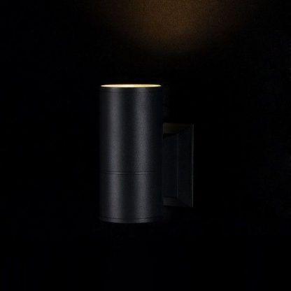 czarny kinkiet nowoczesny świecący do góry