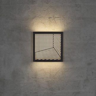 czarny kinkiet zewnętrzny z dekoracją