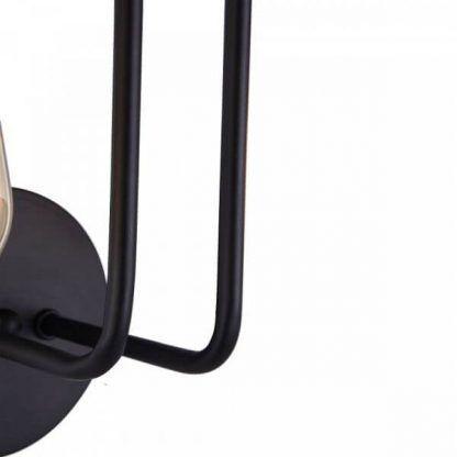 czarny metalowy kinkiet do przedpokoju
