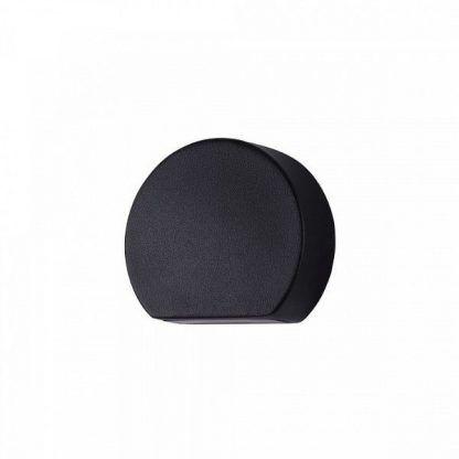 czarny nowoczesny kinkiet w kształcie koła
